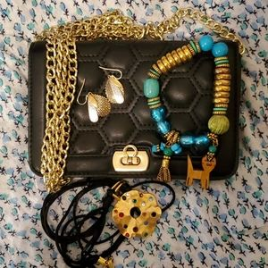Quilted Mini Bag & Coldwater Creek Jewelry